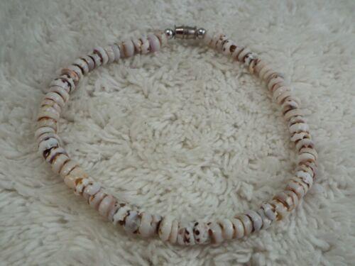 Genuine Capped Tiger Puka Shell Bracelet / Anklet (F13)