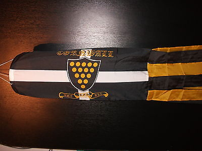 """WINDSOCK 60"""" LONG, HORSE SHOWS OF CORNWALL ONE AND ALL, ST.PIRANS BNIP"""