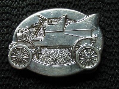 STERLING SILVER 1903 FORD MODEL A CAR BELT BUCKLE! VINTAGE! RARE! 1978! 52g! WOW