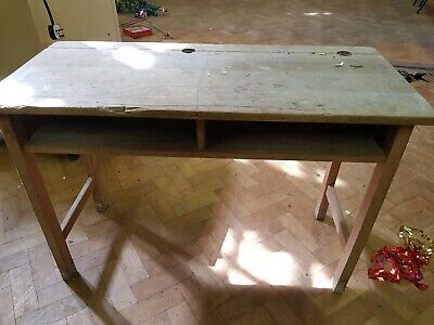 School Desk Vintage wooden double