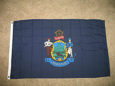 Wholesale Lot 20 3x5 State of Maine Polyester Flag 3'x5' Banner