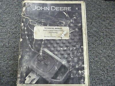 John Deere 8440 8640 4wd Tractor Shop Service Repair Technical Manual Tm1199