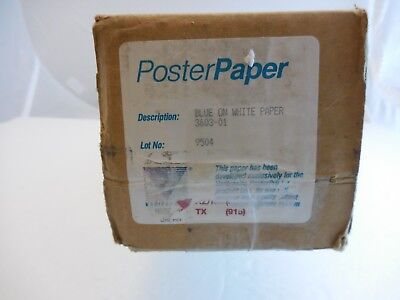 Varitronics 3603-01 Poster Printer Paper 24 Blue On White