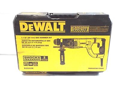 Dewalt D25263k 8.5 Amp 1-18-inch Corded D-handle Sds Plus Shocks Rotary Hammer