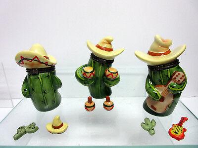 New Cactus Hinged Box Set Music Band 3 Cactus Boxes 294.04A