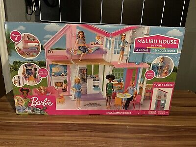 Barbie Malibu 2 Story 6 Room house Playset with over 25 Accessories FXG57