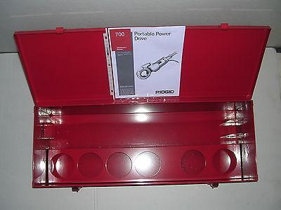 Metal Case Manual Ridgid 700 Power Pony Pipe Threader Six 12r Die Heads 12-2