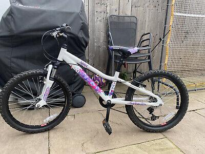 "Girls Saracen Spice White and Purple 20"" Bike Bicycle"