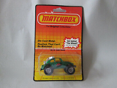 1983 Matchbox Superfast 1:64 Green VW Volkswagen Beetle Bug Sand Digger #49 NOC