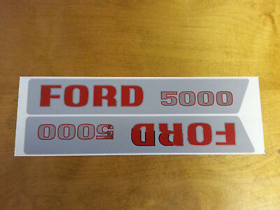 Decal Set For Ford 5000 1965 Thru April 1968.