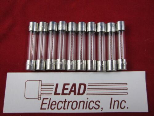 10x AGC-3/4A  6MM X 30MM FAST ACTING  3/4-AMP 250-VOLT GLASS FUSE