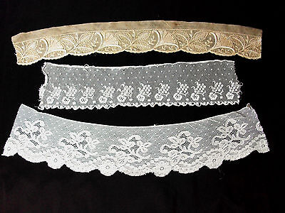 Set Of 3 Cuts Of Lace Antique