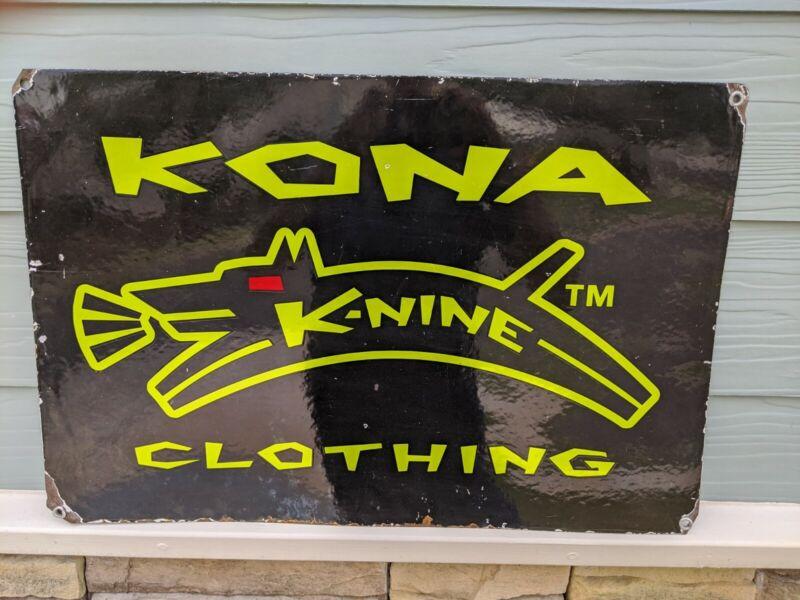 Vintage Porcelain  Kona advertising Sign
