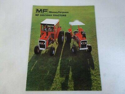 Massey Ferguson Models Mf 285 1085 Tractors Brochure