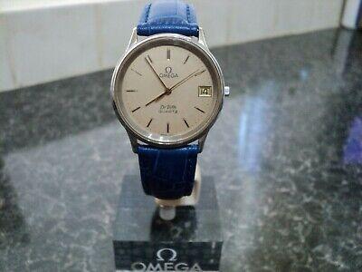 Omega De Ville Men's Stainless Steel Quartz Date Wristwatch 1332 Cal Circa 1979.
