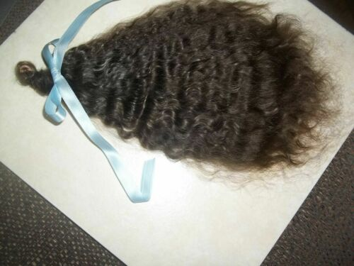 """DARKEST BROWN""~SUPER CURLY~11in FOR REBORN~SILKY~1/2 OZ~YEARLING MOHAIR"