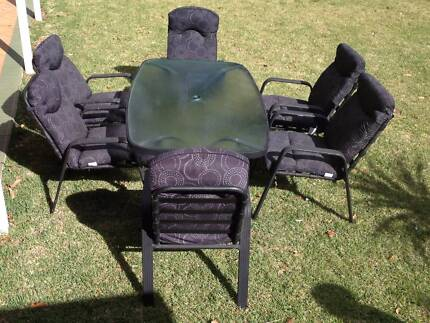 6-seater outdoor dining table and chairs
