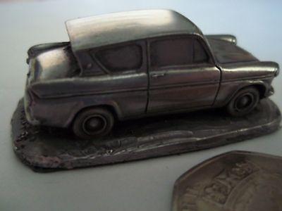 Ford Anglia 105E - Pewter Effect 1:92 Scale Model Car
