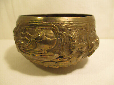 Asian Art India: Sacred Container Made of Metal/Handmade