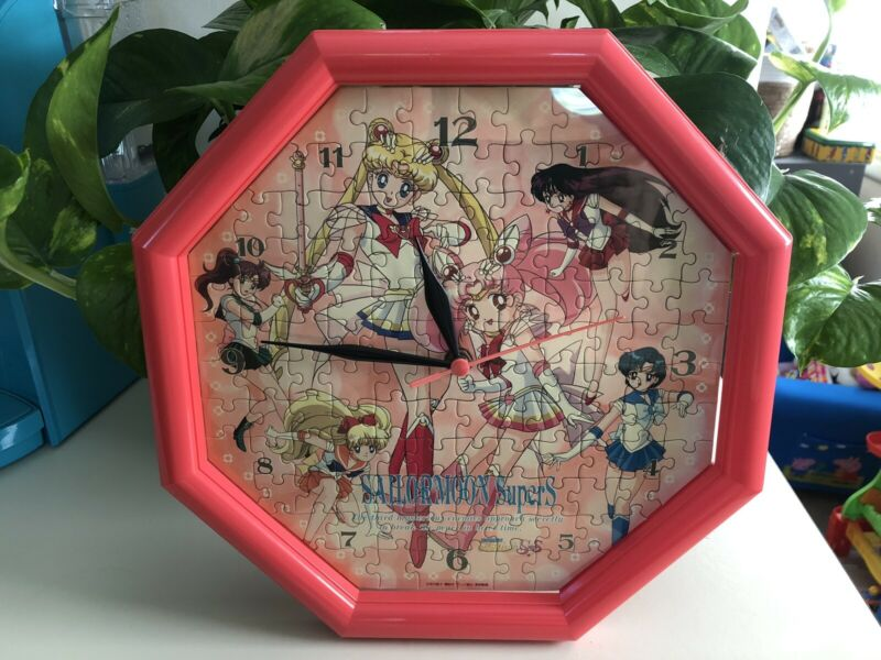 Sailor Moon Puzzle Clock Japan Vintage Super S Supers Works Jigsaw