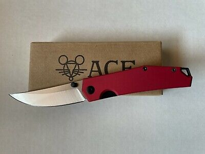 GIANTMOUSE ACE Clyde Liner Lock Folding Knife (Aluminum/N690) Red - EDC - NEW!