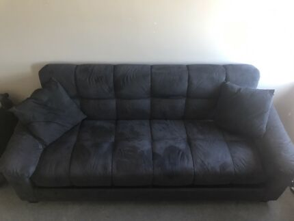 3 Seater Sofa Bed   Grey Suede