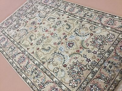 Beige Mahal Rectangle Rug - 6 X 9 Light Brown Beige Mahal Persian Oriental Area Rug Hand Knotted Geometric