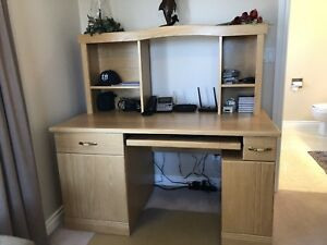 Custom Made Oak Computer Desk with Chair