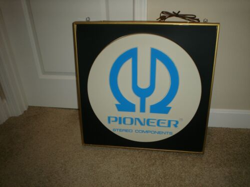 """Vintage PIONEER STEREO COMPONENTS 24"""" X 24"""" Lighted  Advertising Sign New In Box"""