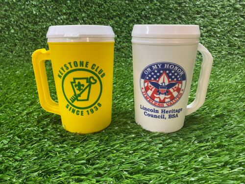BOY SCOUTS KEYSTONE CLUB LINCOLN HERITAGE COUNCIL INSULATED MUGS! FREE SHIPPING!