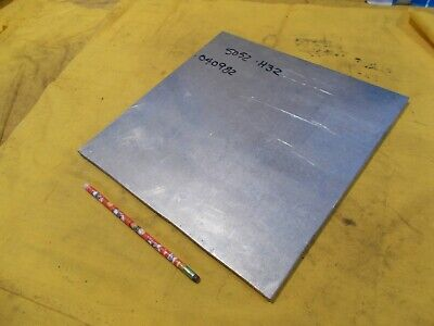 5052 Aluminum Flat Stock Tool Die Bar Sheet Plate 38 X 12 X 12 Oal