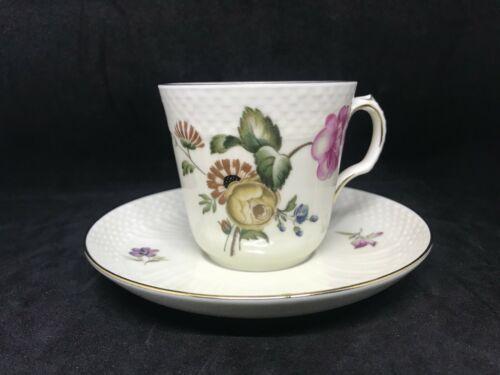 Vintage Royal Copenhagen Trellborg Pattern-Demitasse Cup & Saucer #1546