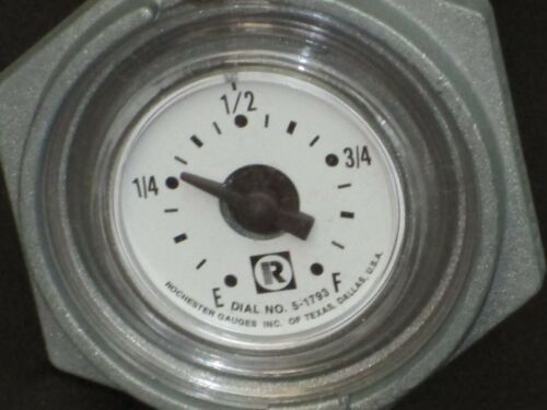 Rochester GAUGES Vertical Dial Fuel Level Gauge 5-1793 51793 1-1/2 NPT Threaded