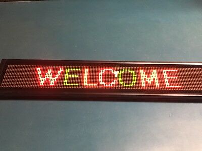 Programmable Led Scrolling Sign 16 X 128 4.75mm Pixel Redgreenyellow D16128a