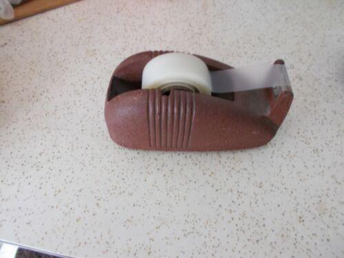 Vintage Scotch Tape Brown Whale Cast Iron Tape Dispenser