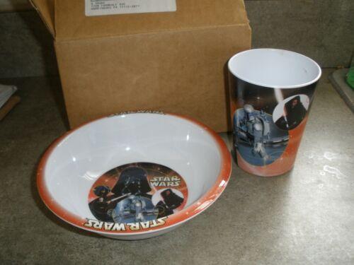 General Mills Giveaway NEW 2002 Set of Star Wars Plastic Plate & Mug Set -Darth