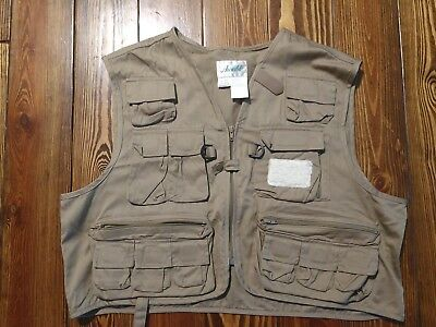 bad75c530a9d4 Ausable Cotton Fly Fishing Vest, XL, Great Used Condition.- Hunters &  Sportsmen