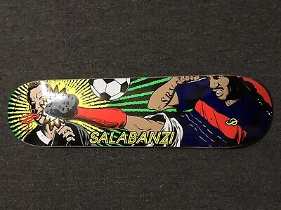 New Primitive Skateboard Deck Bastien Salabanzi Red Card - 8.0