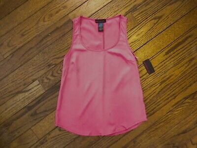 New!  Material Girl Hot Pink Sleeveless Blouse    Size Small ()