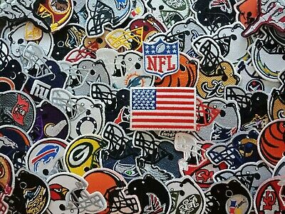 Football Helmet NFL Team Embroidered patch iron Sew on jacket hat bag shirt