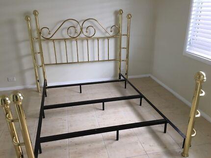 wesley allen pure brass bed frame