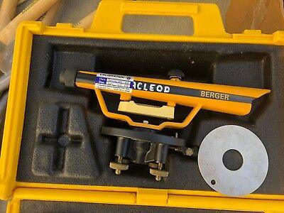 Berger Instruments Surveying Transit Optical Level Model 190b With Storage Case