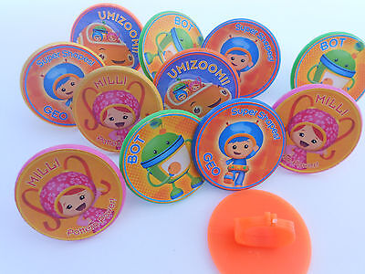 12 Team Umizoomi Rings cupcake toppers - birthday party favor pinata loot bag - Umizoomi Party Supplies