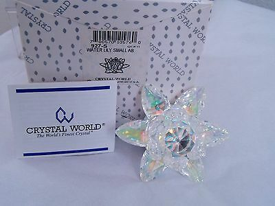 "CRYSTAL WORLD ""WATERLILY"" # 927, NEW IN ORIGINAL BOX, 1999,"