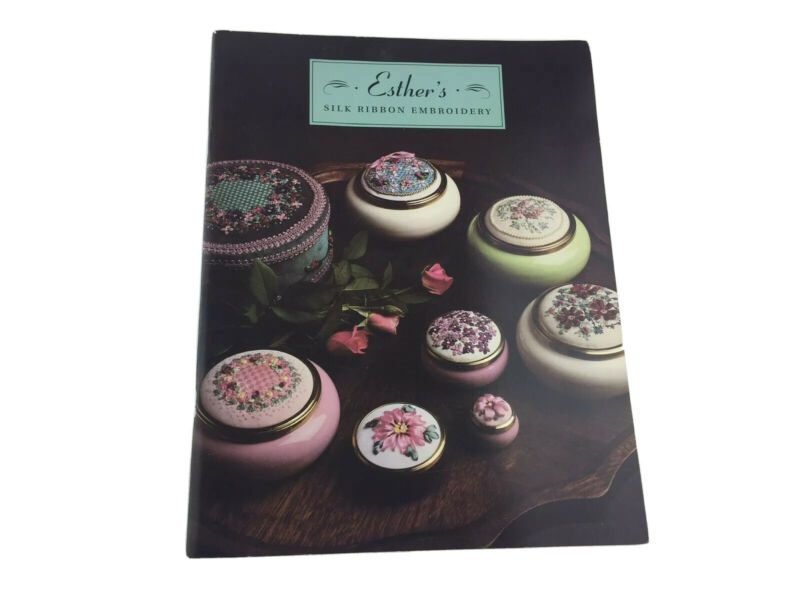 Esther's Silk Ribbon Embroidery Pattern Booklet Needlepoint Flowers Floral