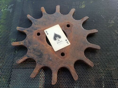 "used Gear Sprocket Machine Part 11 1/2"" Martin TW3813R 14 spoke used metal art"