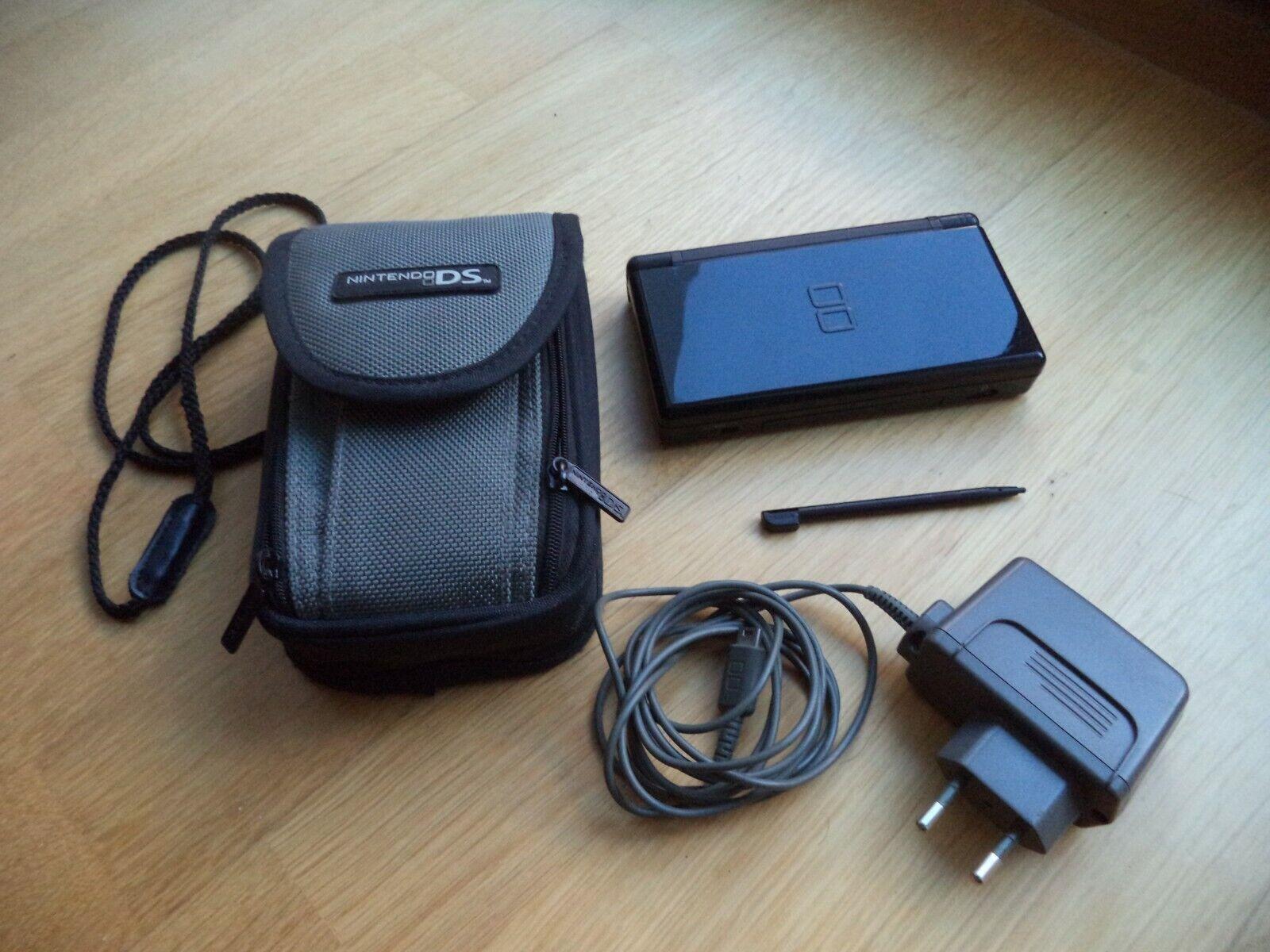 Nintendo DS Lite Schwarz Ladekabel Tasche Case für Spiele