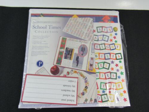 Creative Memories School Times Collection Scrapbook Pages 12 X 12  NEW -open pkg