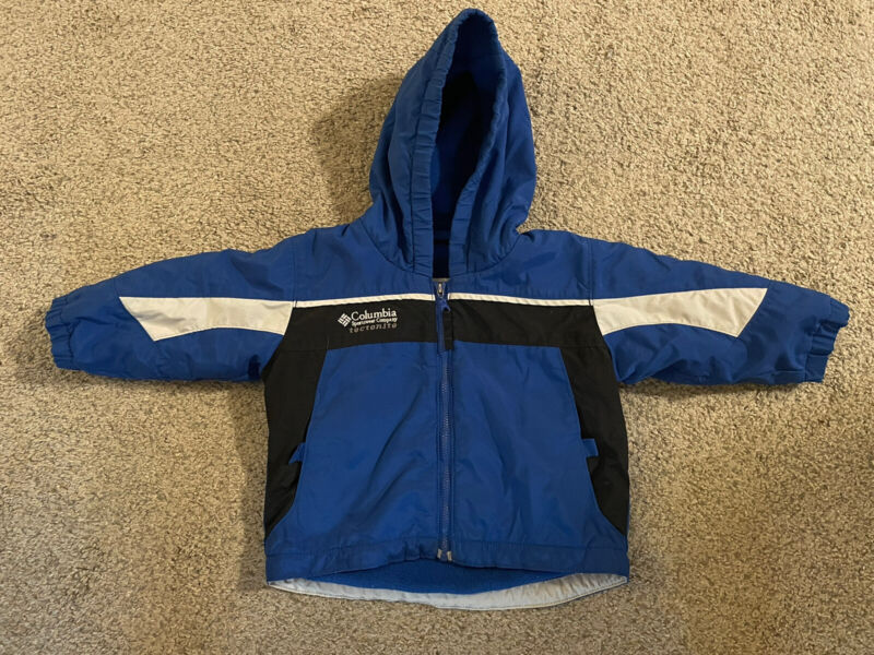 Columbia TECTONITE Insulated Winter Jacket Coat Boys Size 18 Months Blue/Black