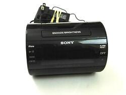 Sony ICF-C11iP Black Dual Alarm Clock AM/FM Radio iPhone iPod Dock